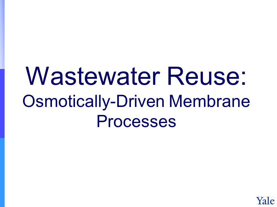 Wastewater Reuse: Osmotically-Driven Membrane Processes