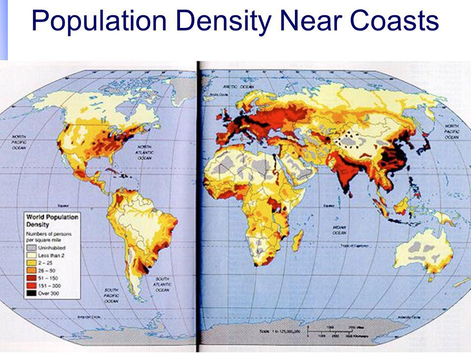 Population Density Near Coasts