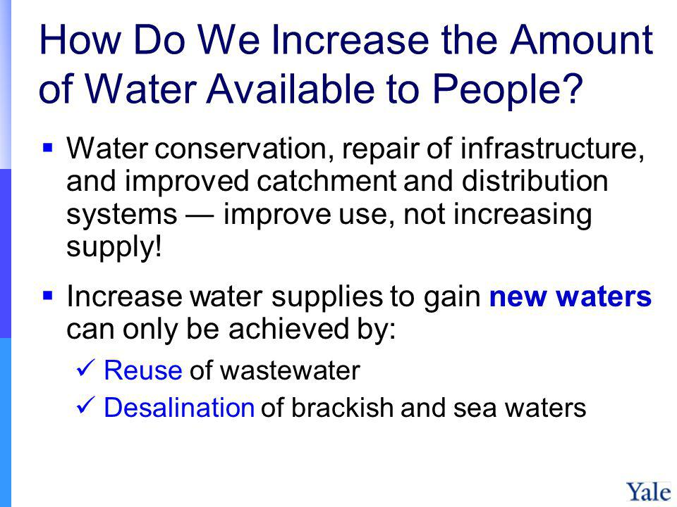 How Do We Increase the Amount of Water Available to People