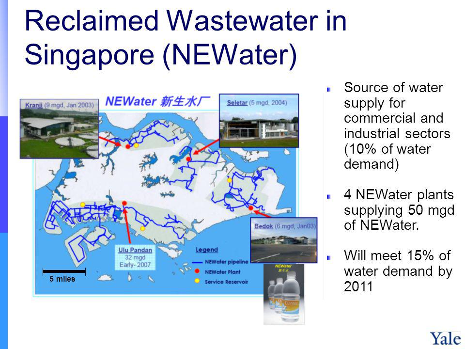 Reclaimed Wastewater in Singapore (NEWater)