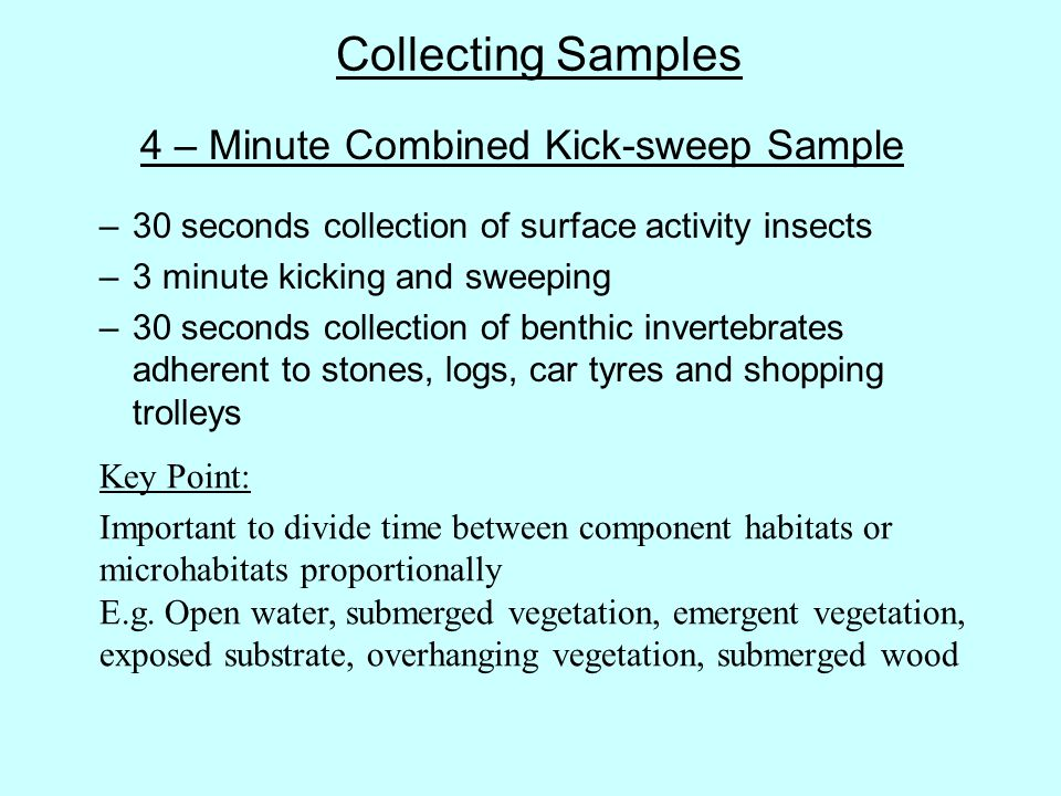 4 – Minute Combined Kick-sweep Sample