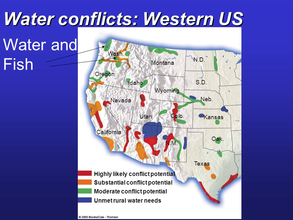 Water conflicts: Western US