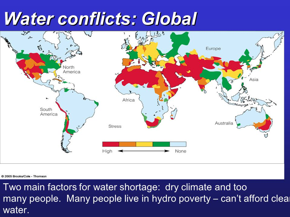 Water conflicts: Global