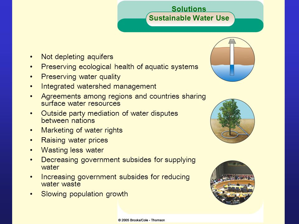 Solutions Sustainable Water Use