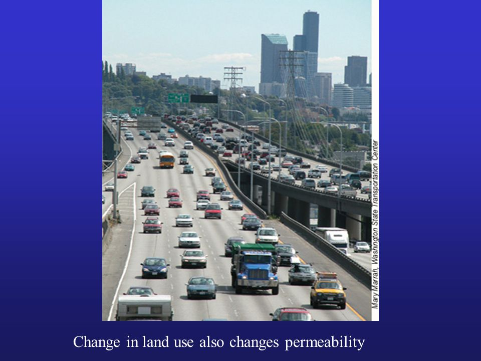 Change in land use also changes permeability