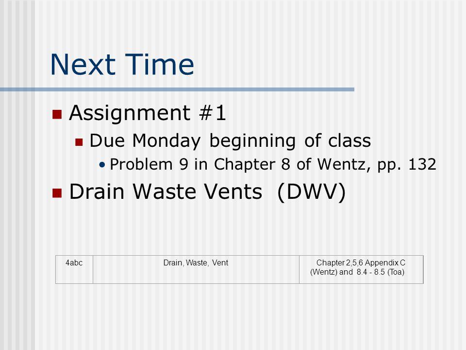 Chapter 2,5,6 Appendix C (Wentz) and 8.4 - 8.5 (Toa)