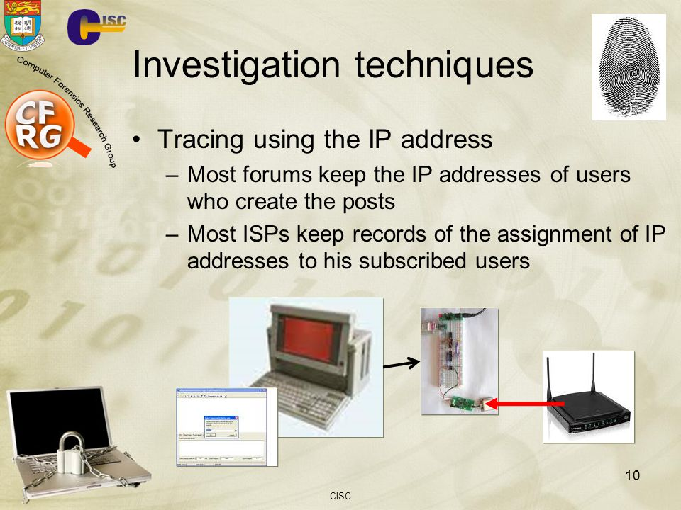 Investigation techniques