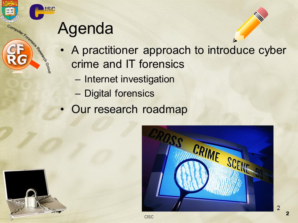 22-March-2004 Agenda. A practitioner approach to introduce cyber crime and IT forensics. Internet investigation.