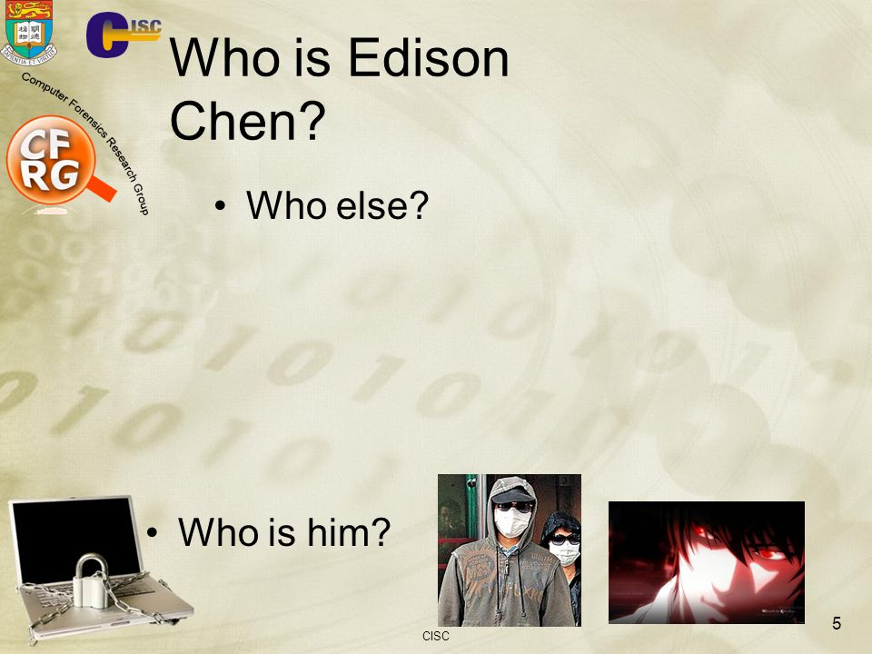 Who is Edison Chen Who else Who is him CISC