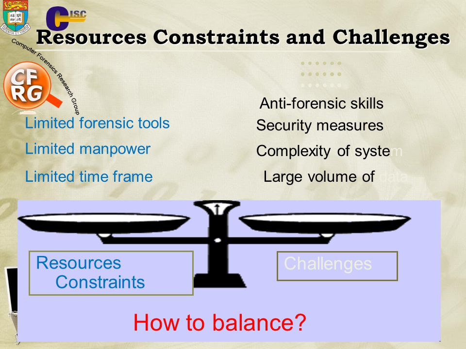 How to balance Resources Constraints and Challenges