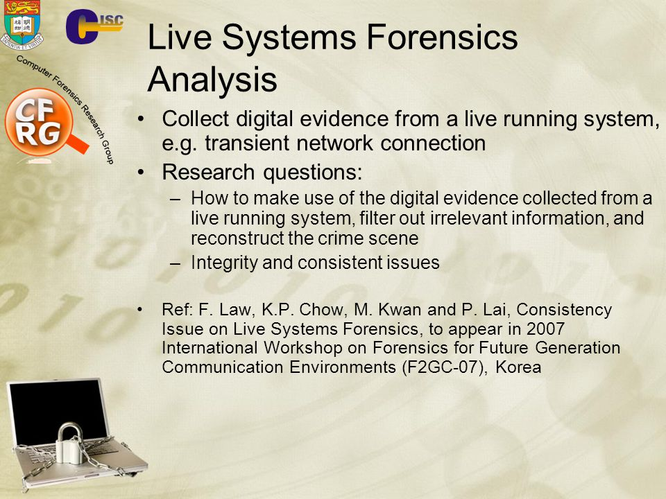 Live Systems Forensics Analysis