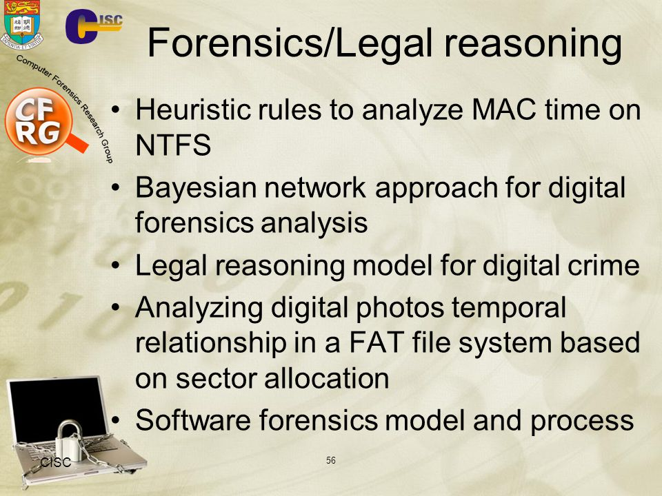 Forensics/Legal reasoning