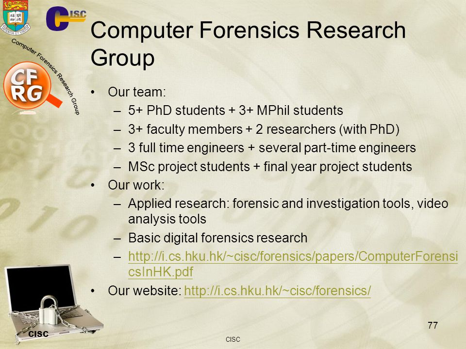 Computer Forensics Research Group
