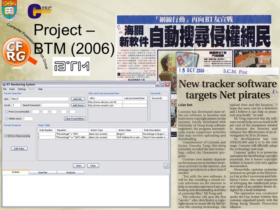 22-March-2004 Project – BTM (2006) CISC