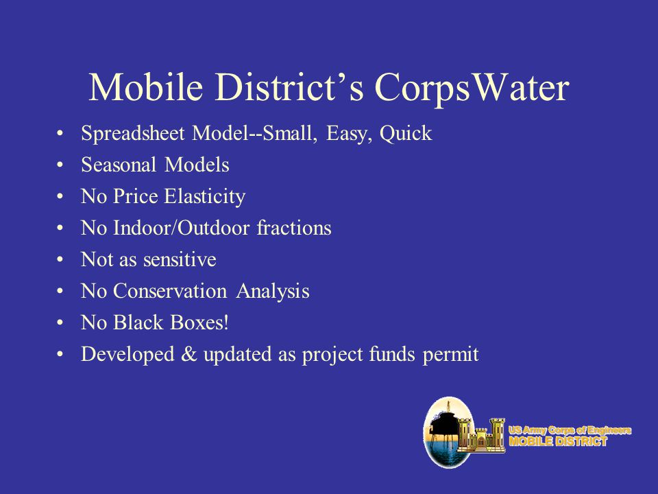 Mobile District's CorpsWater