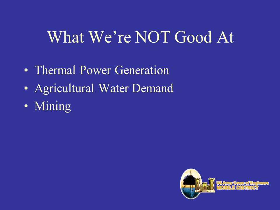 What We're NOT Good At Thermal Power Generation