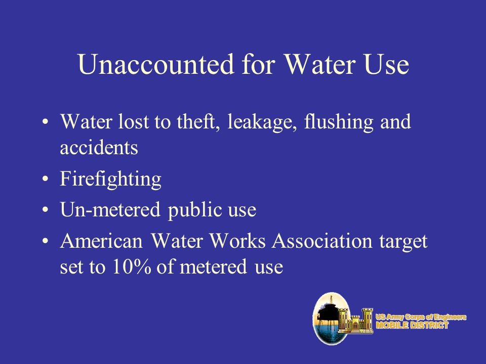 Unaccounted for Water Use