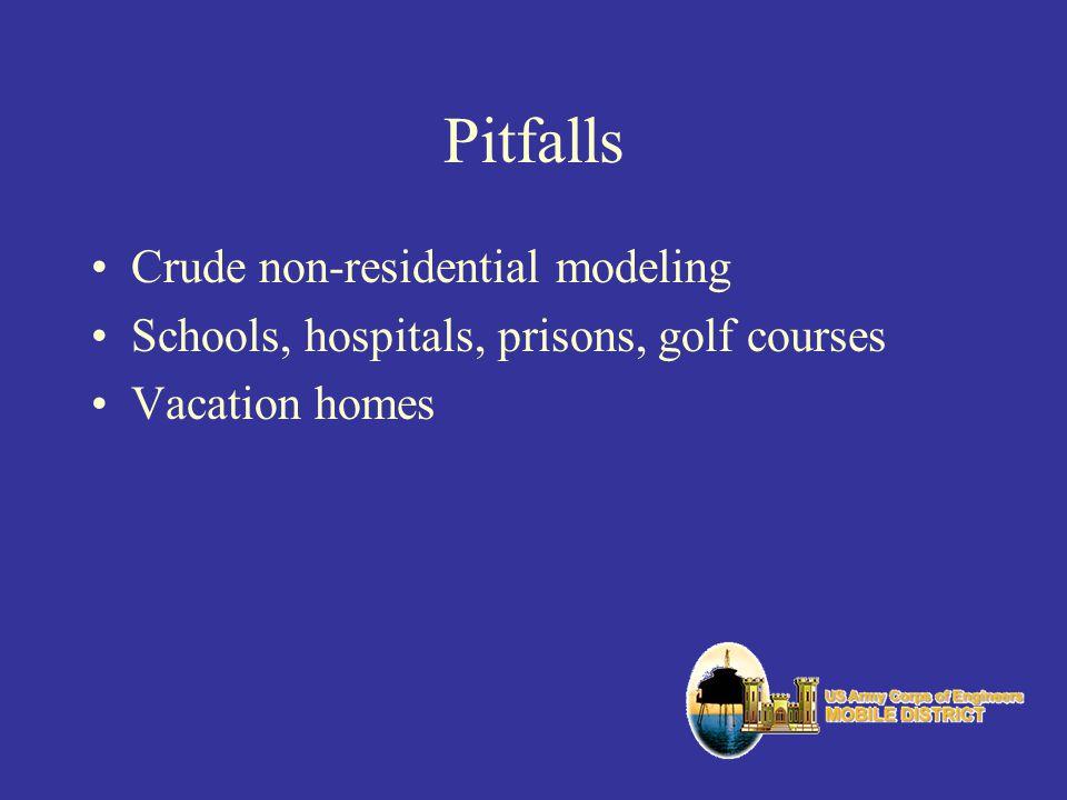 Pitfalls Crude non-residential modeling