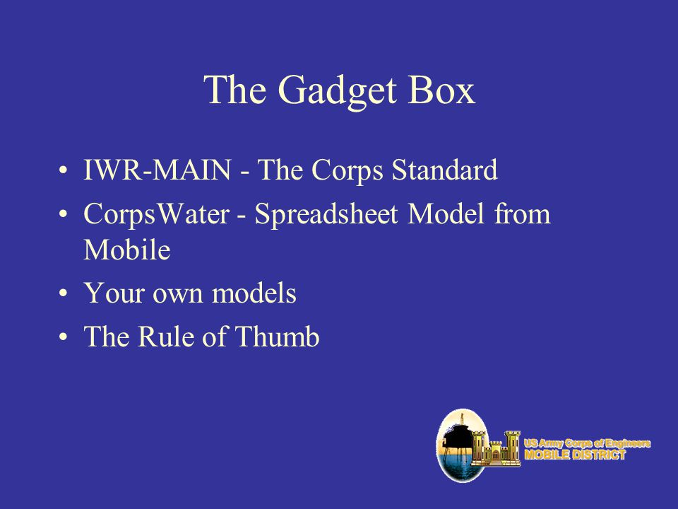 The Gadget Box IWR-MAIN - The Corps Standard