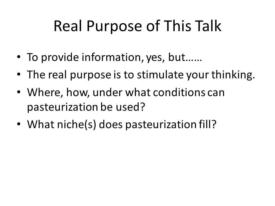 Real Purpose of This Talk