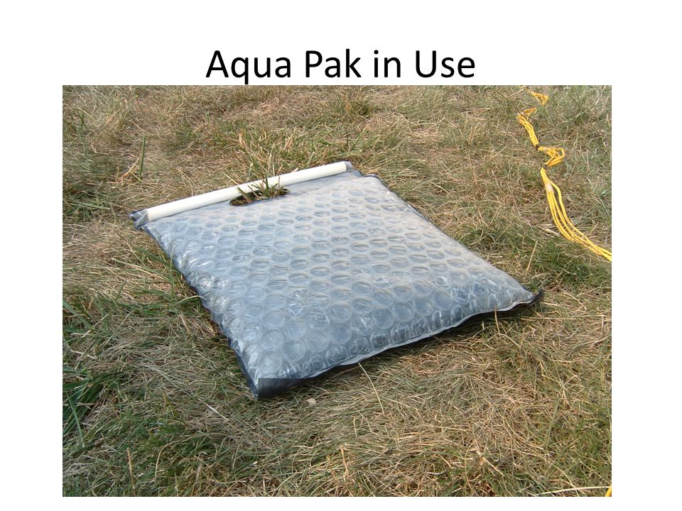 Aqua Pak in Use
