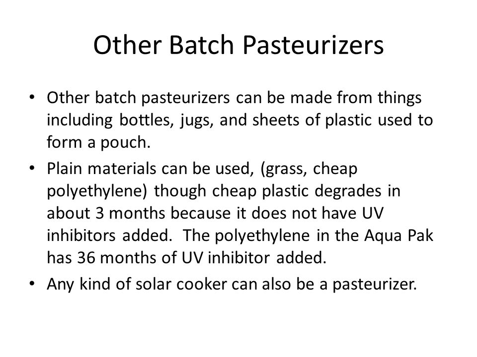 Other Batch Pasteurizers