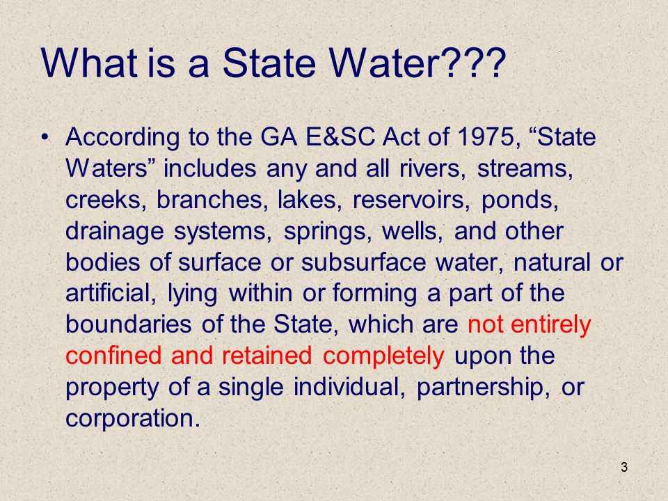 What is a State Water