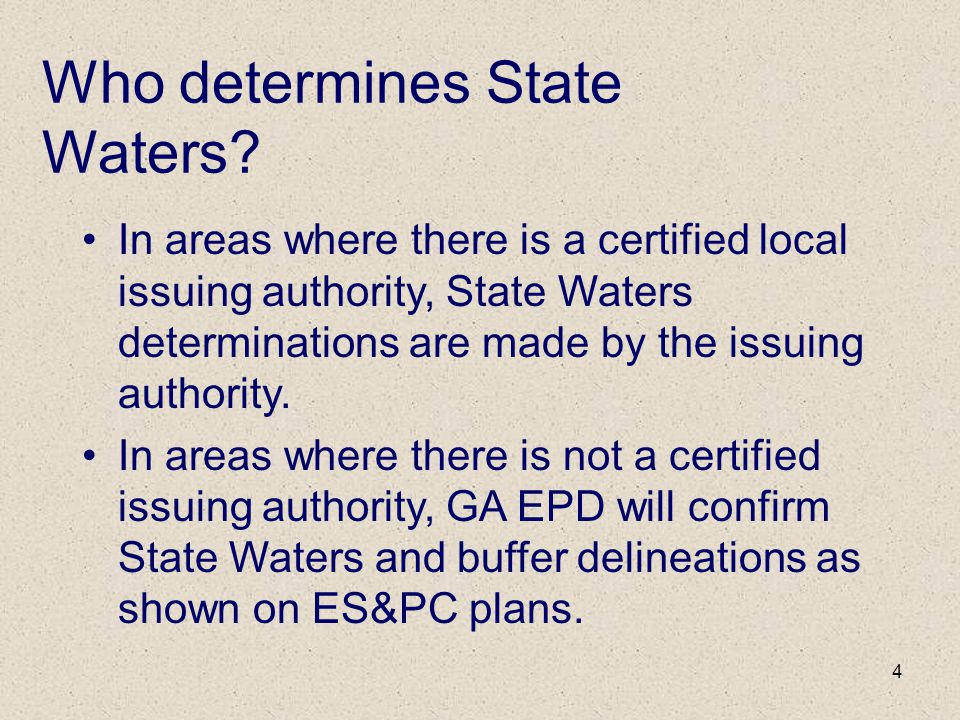 Who determines State Waters