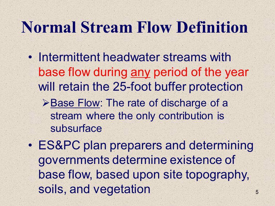 Normal Stream Flow Definition