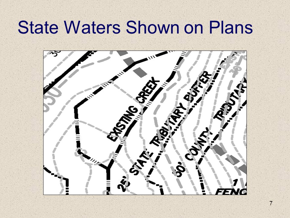 State Waters Shown on Plans