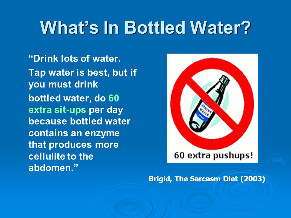 What's In Bottled Water