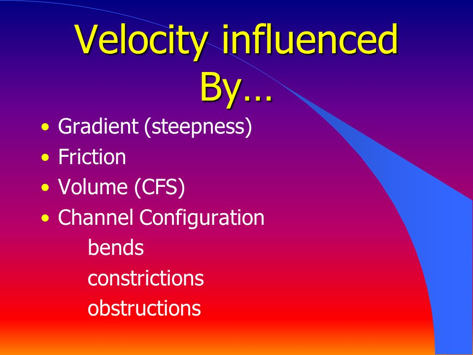 Velocity influenced By…