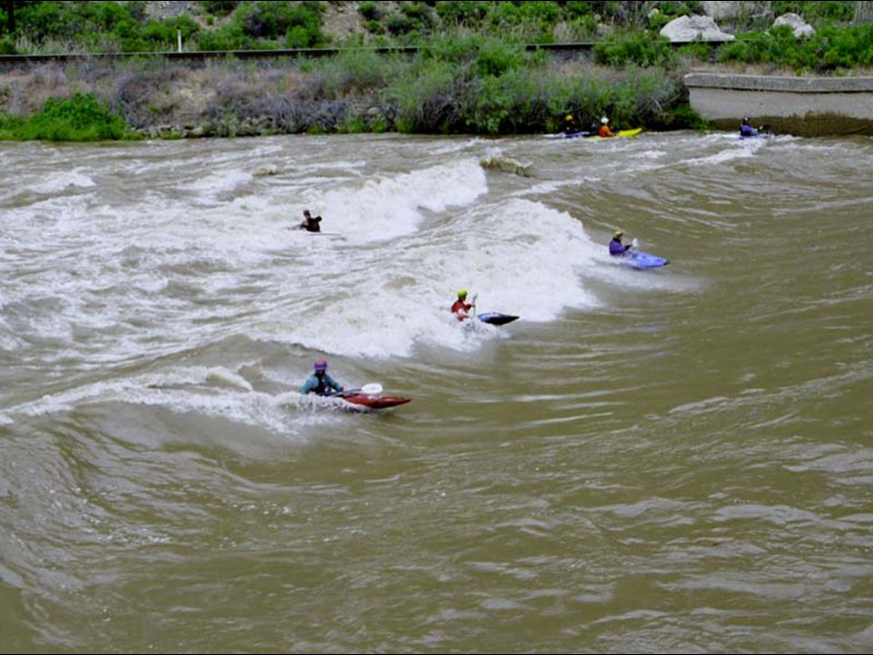 Large, wide standing wave on Colorado River near Grand Junction