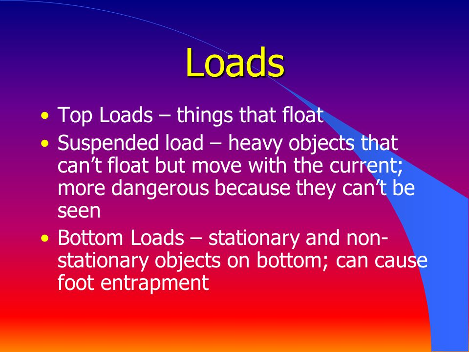 Loads Top Loads – things that float