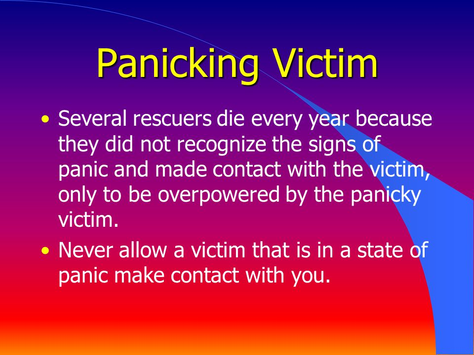Panicking Victim