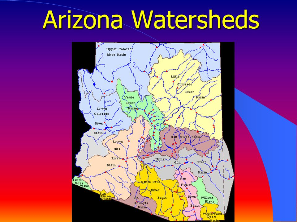 Arizona Watersheds !3 drainages