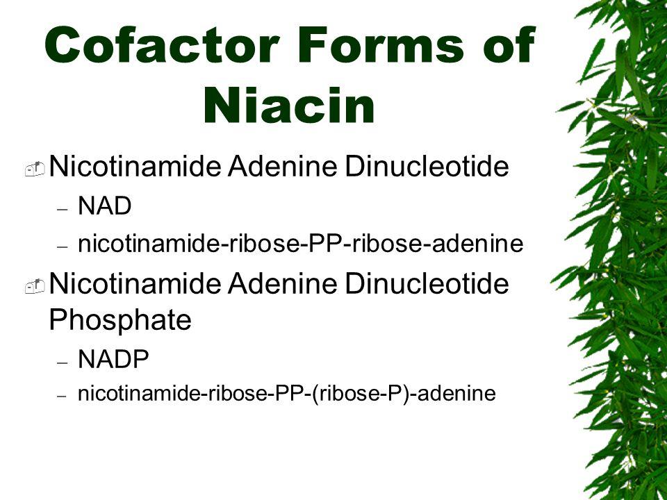 Cofactor Forms of Niacin
