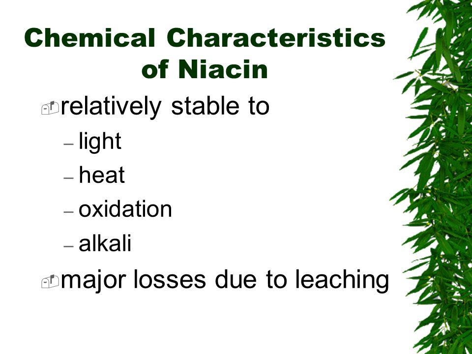 Chemical Characteristics of Niacin