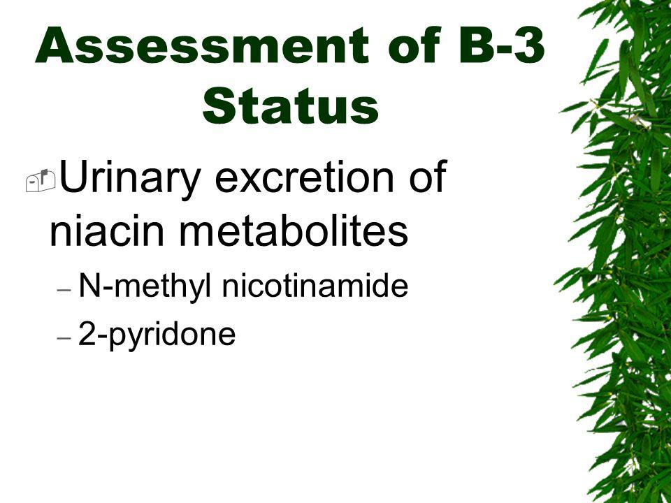 Assessment of B-3 Status