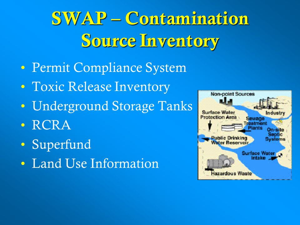 SWAP – Contamination Source Inventory
