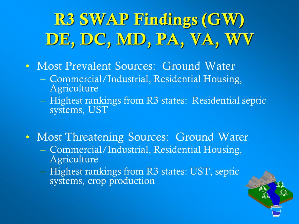 R3 SWAP Findings (GW) DE, DC, MD, PA, VA, WV