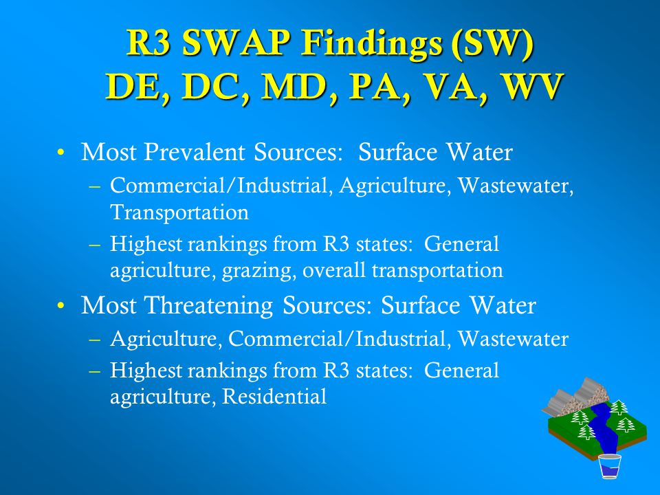 R3 SWAP Findings (SW) DE, DC, MD, PA, VA, WV