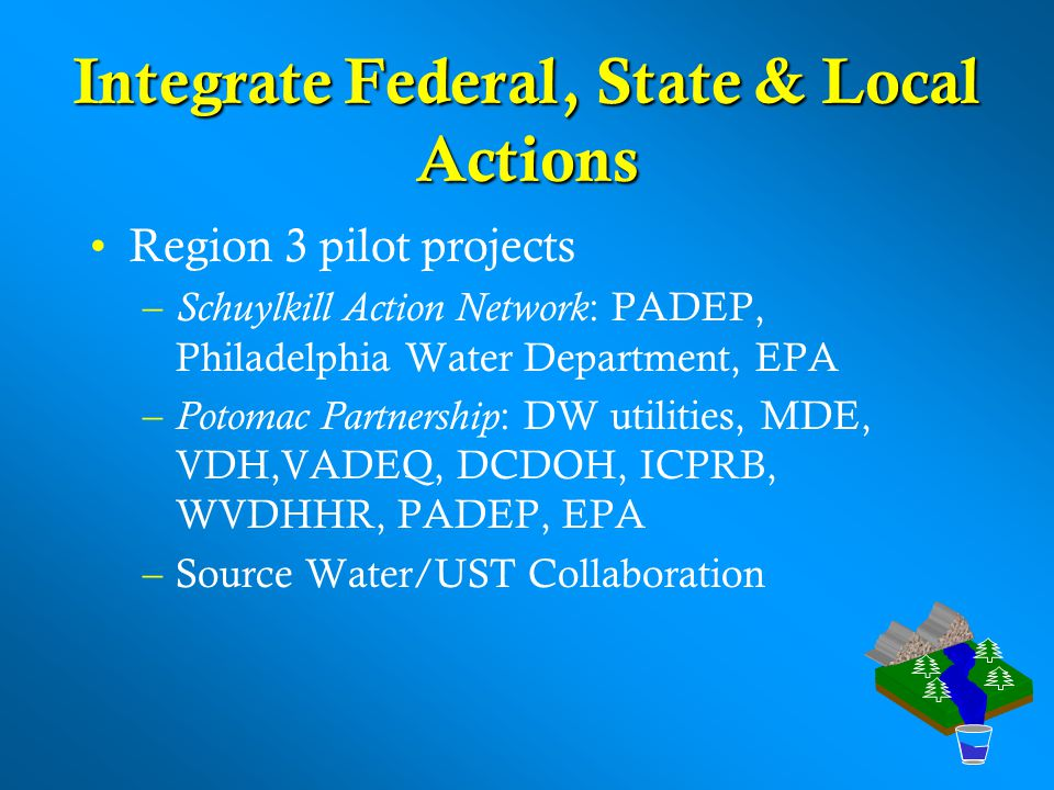 Integrate Federal, State & Local Actions