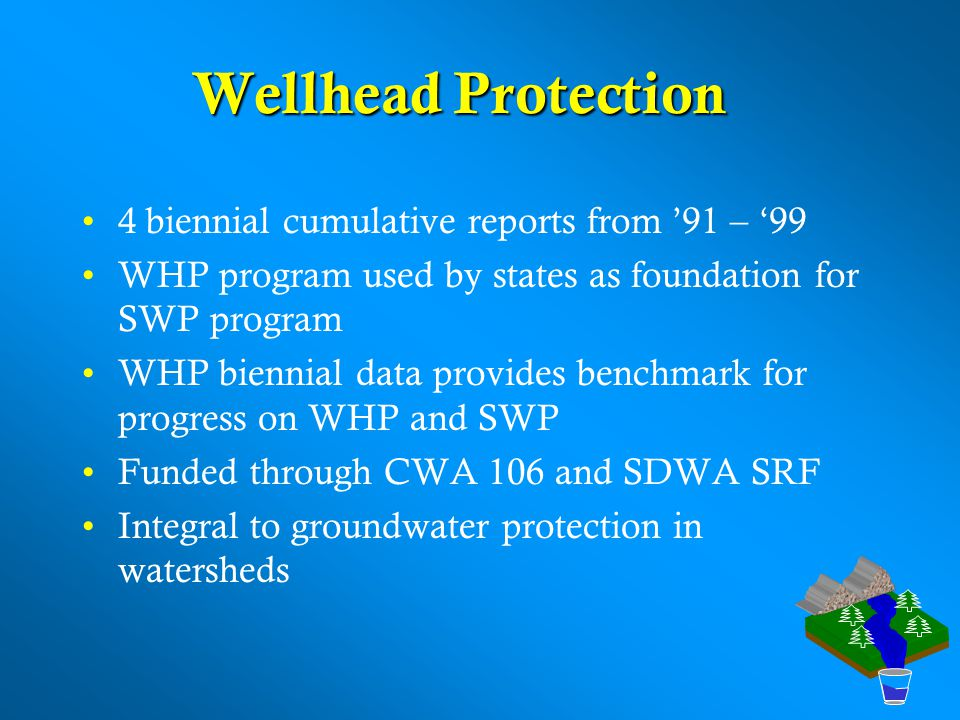 Wellhead Protection 4 biennial cumulative reports from '91 – '99