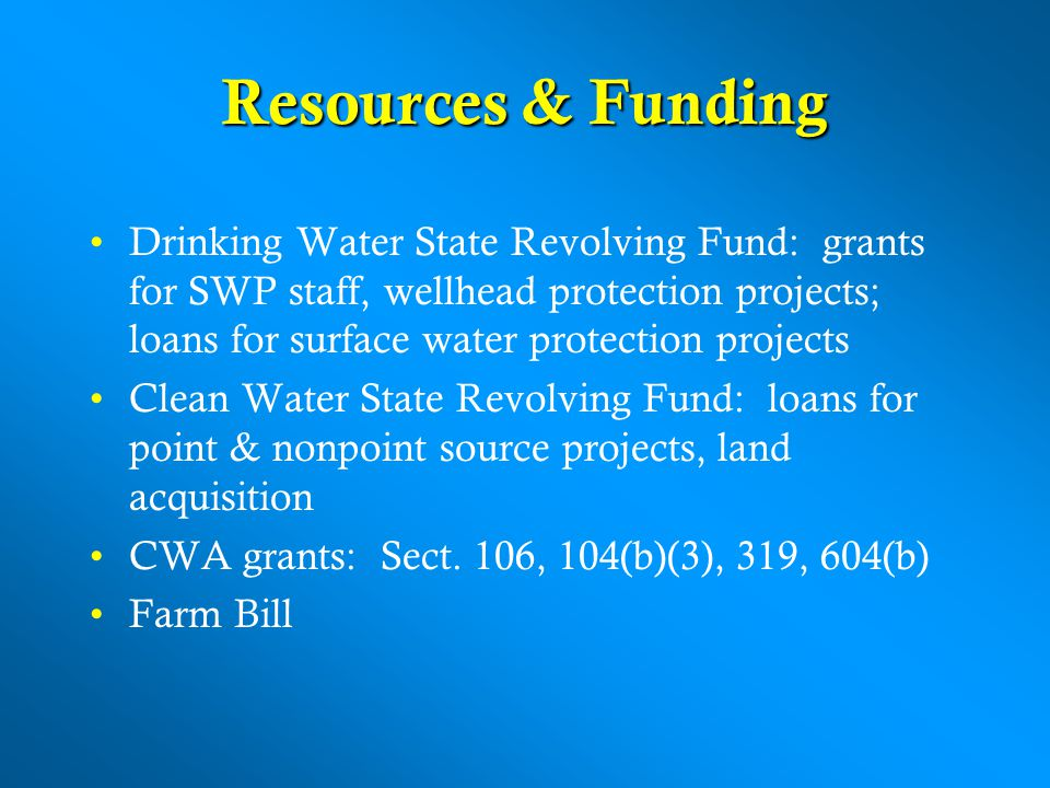Resources & Funding