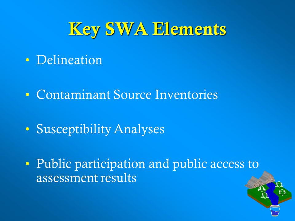 Key SWA Elements Delineation Contaminant Source Inventories