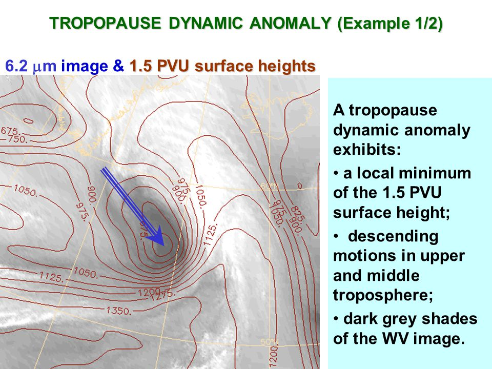 TROPOPAUSE DYNAMIC ANOMALY (Example 1/2)