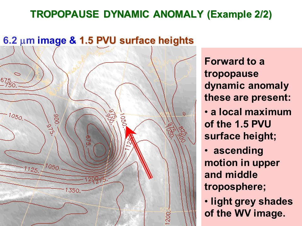 TROPOPAUSE DYNAMIC ANOMALY (Example 2/2)
