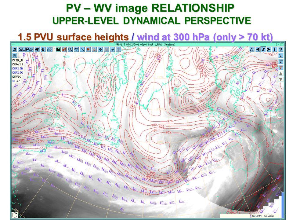 PV – WV image RELATIONSHIP UPPER-LEVEL DYNAMICAL PERSPECTIVE