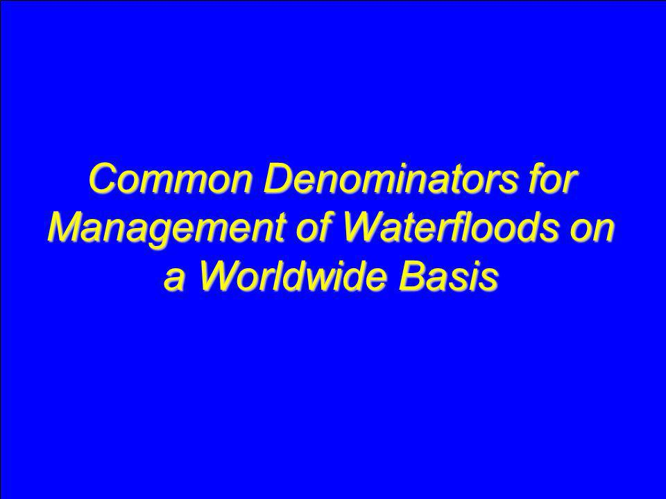 Common Denominators for Management of Waterfloods on a Worldwide Basis